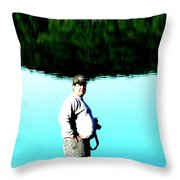 Blue Avery Throw Pillow