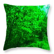 Blue Background Branches Throw Pillow