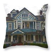 Blue Bainbridge Beauty Throw Pillow