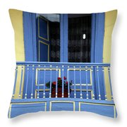 Blue Balcony In Sopo Throw Pillow