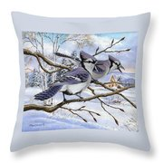 Blue Bandits Winter Afternoon Throw Pillow