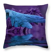Blue Baptism Throw Pillow
