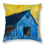 Blue Barn Number One Throw Pillow
