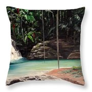 Blue Basin Throw Pillow
