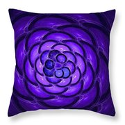 Blue Bauble Throw Pillow