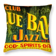 Blue Bayou Throw Pillow
