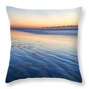 Blue Beach Throw Pillow