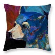 Blue Bear II Throw Pillow