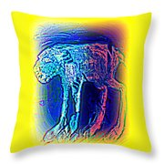 The Blue Beast Inside Of Me Is Waiting For You  Throw Pillow