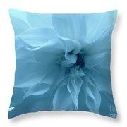 Blue Beauty - Dahlia Throw Pillow