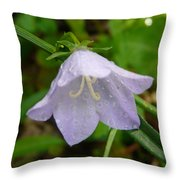 Blue Bell Flower Throw Pillow