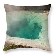 Blue Bell Pool In West Thumb Geyser Basin In Yellowstone National Park Throw Pillow