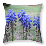 Blue Bells 1 Throw Pillow