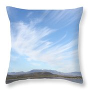Blue Bench Throw Pillow