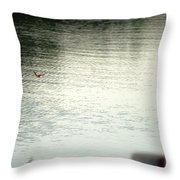 Blue Bird Over The Water...   # Throw Pillow