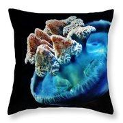 Blue Blubber Jelly - 2 Throw Pillow