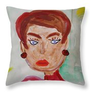 Blue Blue Eyes Throw Pillow
