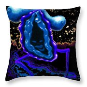 Blue Blues With Lovehoney Throw Pillow