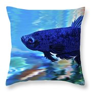 Blue Boy Throw Pillow