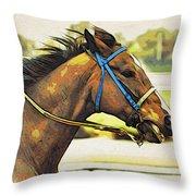 Blue Bridle Throw Pillow