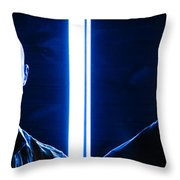 Blue Brothers Throw Pillow
