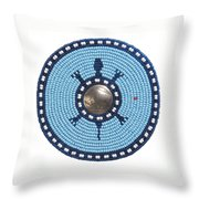 Blue Buffalo Turtle Throw Pillow