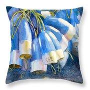 Blue Bundle Throw Pillow