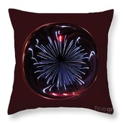 Blue Burst Orb Abstract Throw Pillow