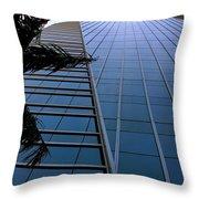 Blue Business Throw Pillow
