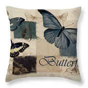 Blue Butterfly - J118118115-01a Throw Pillow