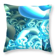 Blue Byte Throw Pillow