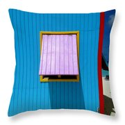 Blue Cabin Throw Pillow by Randall Weidner