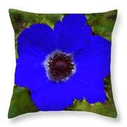 Blue Calanit Magen Throw Pillow