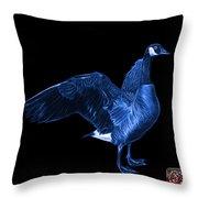 Blue Canada Goose Pop Art - 7585 - Bb  Throw Pillow
