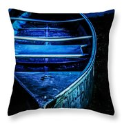 Blue Canoe Throw Pillow