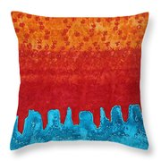 Blue Canyon Original Painting Throw Pillow