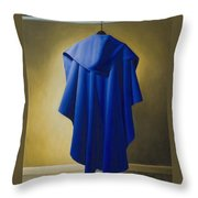 Blue Cape Throw Pillow