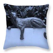 Blue Cat Throw Pillow