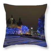 Blue Christmas.. Throw Pillow