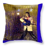 Blue Christmas Without Elvis Throw Pillow