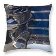Blue Chrome Throw Pillow