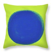 Blue Circ Throw Pillow