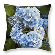 Blue Circle Throw Pillow