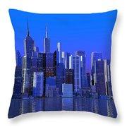 Chicago Blue City Throw Pillow