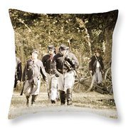 Blue Coats Throw Pillow