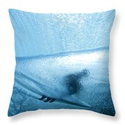 Blue Cocoon Throw Pillow by Sean Davey