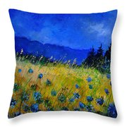 Blue Conflowers 454150 Throw Pillow