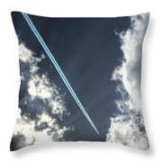 Blue Contrail Throw Pillow