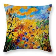 Blue Cornflowers 450408 Throw Pillow
