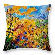 Blue Cornflowers 450408 Throw Pillow